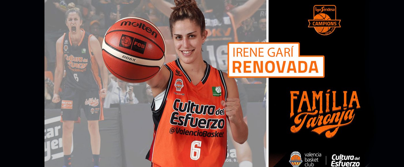 Irene Garí renova pel València Basket